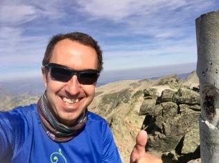 En la cima del Almanzor (2591 m).